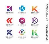 modern letter k logo design... | Shutterstock .eps vector #1474939529