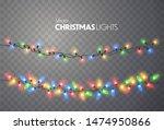 christmas lights. xmas string ... | Shutterstock .eps vector #1474950866