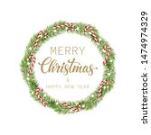 merry christmas and happy new... | Shutterstock .eps vector #1474974329