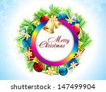 christmas background with gifts ... | Shutterstock .eps vector #147499904