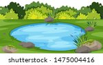 landscape background with small ... | Shutterstock .eps vector #1475004416