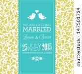 vector wedding card or... | Shutterstock .eps vector #147501734