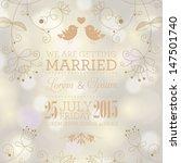 vector wedding card or... | Shutterstock .eps vector #147501740