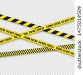 yellow and black barricade... | Shutterstock .eps vector #1475019509