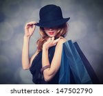 style redhead girl with... | Shutterstock . vector #147502790