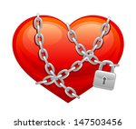 locked heart | Shutterstock .eps vector #147503456