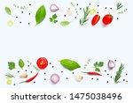 various fresh vegetables and... | Shutterstock . vector #1475038496