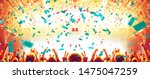 concert hall crowded with...   Shutterstock . vector #1475047259