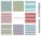 set of vector seamless pattern... | Shutterstock .eps vector #1475048066