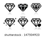 diamond vector icons set | Shutterstock .eps vector #147504923