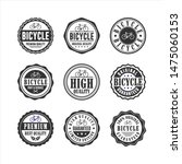 bicycle shop service badge... | Shutterstock .eps vector #1475060153