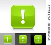 exclamation mark icon. green...
