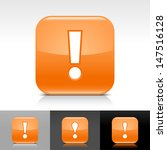 exclamation mark icon. orange...
