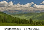 Mountain lake, West Siberia, Altai mountains, Chuya ridge. - stock photo