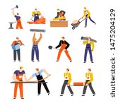 building or construction ... | Shutterstock .eps vector #1475204129