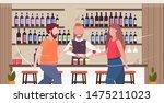 bartender making cocktails and... | Shutterstock .eps vector #1475211023