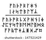 Stock vector younger runes above and the northumbrian order below 147521429