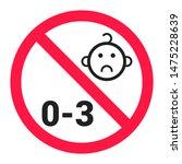not suitable for children under ...   Shutterstock .eps vector #1475228639