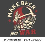 make beer not war apparel | Shutterstock .eps vector #1475234309