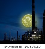 Photo composition in a refinery environment.(Square Frame) - stock photo