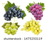 fresh grapes isolated on white... | Shutterstock . vector #1475253119