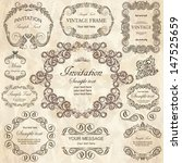 vector set  calligraphic design ... | Shutterstock .eps vector #147525659