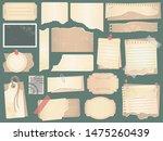 old scrapbook paper. crumpled... | Shutterstock . vector #1475260439