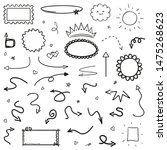 hand drawn infographic elements ... | Shutterstock . vector #1475268623