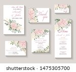 wedding invitation with flowers ... | Shutterstock .eps vector #1475305700