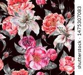 vintage watercolor seamless... | Shutterstock . vector #1475307083