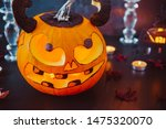 close up carved luminous... | Shutterstock . vector #1475320070