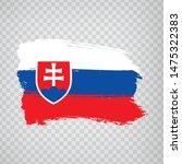 flag slovakia  from brush...