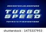 dynamic display font design ... | Shutterstock .eps vector #1475337953