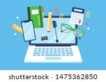 back to school concept with... | Shutterstock .eps vector #1475362850