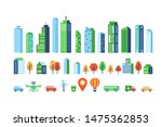 smart city elements with modern ... | Shutterstock .eps vector #1475362853