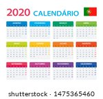 vector template of color 2020... | Shutterstock .eps vector #1475365460