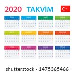 vector template of color 2020... | Shutterstock .eps vector #1475365466