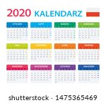 vector template of color 2020... | Shutterstock .eps vector #1475365469