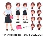 asian student in university... | Shutterstock .eps vector #1475382200