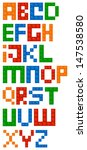 Building Blocks Alphabet Font