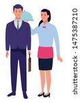 professionals workers... | Shutterstock .eps vector #1475387210