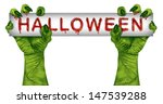halloween zombie sign with... | Shutterstock . vector #147539288