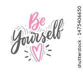 modern hand drawn lettering... | Shutterstock .eps vector #1475406650