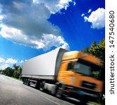 big truck on the asphalt road | Shutterstock . vector #147540680