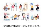 collection of hobby and... | Shutterstock .eps vector #1475418476