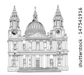 st. paul cathedral  london city ... | Shutterstock .eps vector #147541916