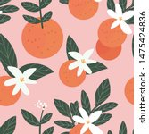 vector fruit seamless pattern.... | Shutterstock .eps vector #1475424836