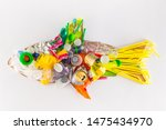 plastic fish made of disposable ...   Shutterstock . vector #1475434970