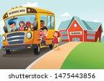 a vector illustration of school ... | Shutterstock .eps vector #1475443856