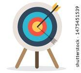target with arrow  standing on... | Shutterstock .eps vector #1475451539